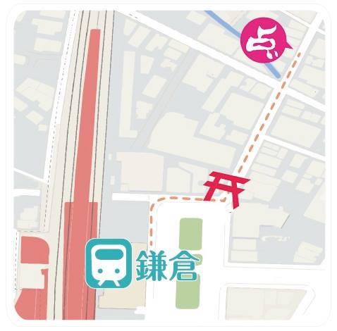 鎌倉占いの館への地図