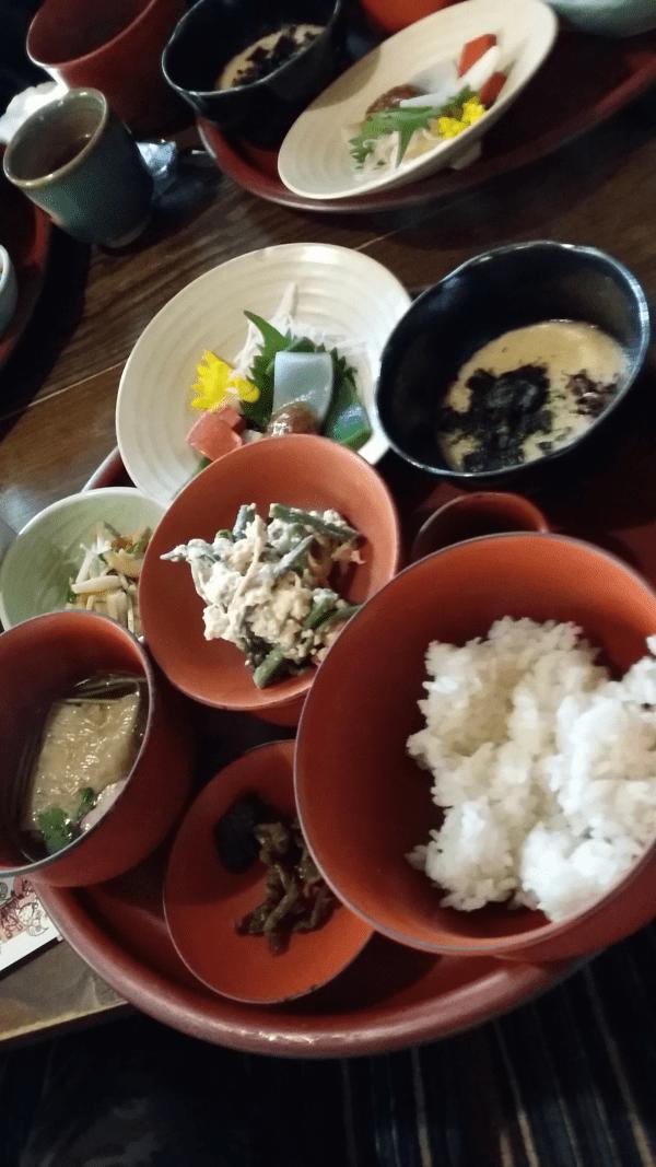 鞍馬寺で精進料理