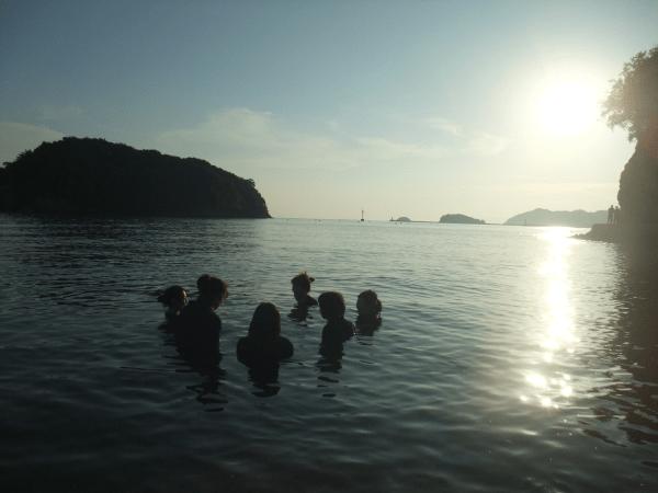 青竜返首で仙酔島へ