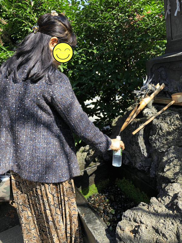 奇門遁甲の吉方位でお水取り